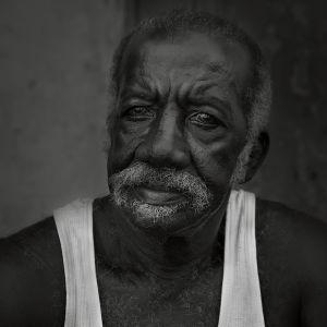 Daniela Contini Cuban man Trinidad, black and white, portrait