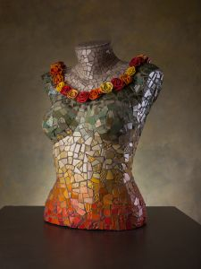 Mosaic, torso, visual art photography, ceramics, ceramic bowl, photography, art reproduction, hamutalbenjo, artobject, art,